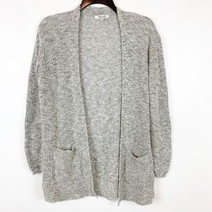 MADEWELL OPEN FRONT CARDIGAN SWEATER SIZE XS